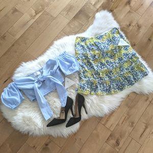 LOST + WANDER - NWT Blossom & Bloom Mini Skirt